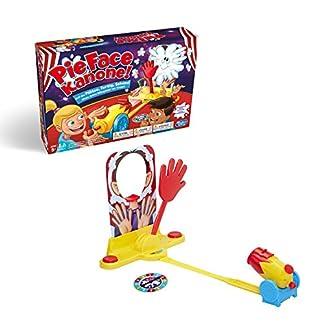 Hasbro Pie Face Kanone, lustiges Partyspiel, sahnestarkes Familienspiel, Gemeinschaftsspiel für den Kindergeburtstag, wer bekommt die Sahne ins Gesicht? 2 oder mehr Spieler, ab 5 Jahren 1