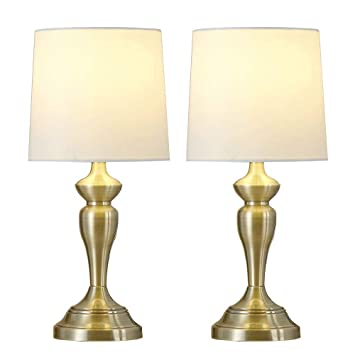 Delica Home Brass Gold Table Lamp Set Of 2 Table Lamps Side Lamps