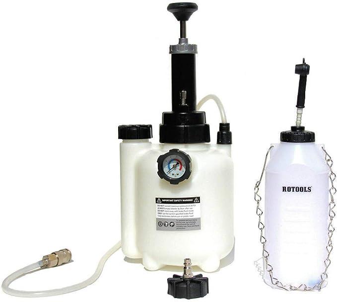 Rotools Bremsenentlüfter Bremsenentlüftungsgerät Auffangflasche Für Bremsflüssigkeit E20 Adapter Baumarkt