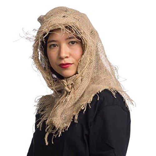 Burlap Scarecrow Costume Cowl (Burlap Sack Costume)