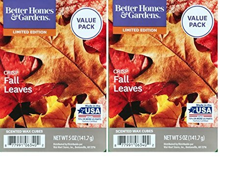 Better Homes and Gardens Crisp Fall Leaves Scented Wax Cubes 5oz - 2-Pack