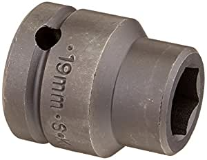 SK Hand Tool 84719S 3/4-Inch Drive Standard Impact Socket, 19mm