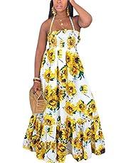 فستان شاطئ صيفي طويل بدون أكمام للسيدات من GAGA