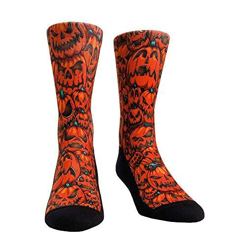 Holiday Fun Colorful Themed Socks (L/XL, Halloween - Pumpkins) (Pumpkin Socks)