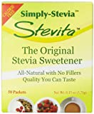 Stevita Sweetener, Pure Stevia Extract, 50 Count