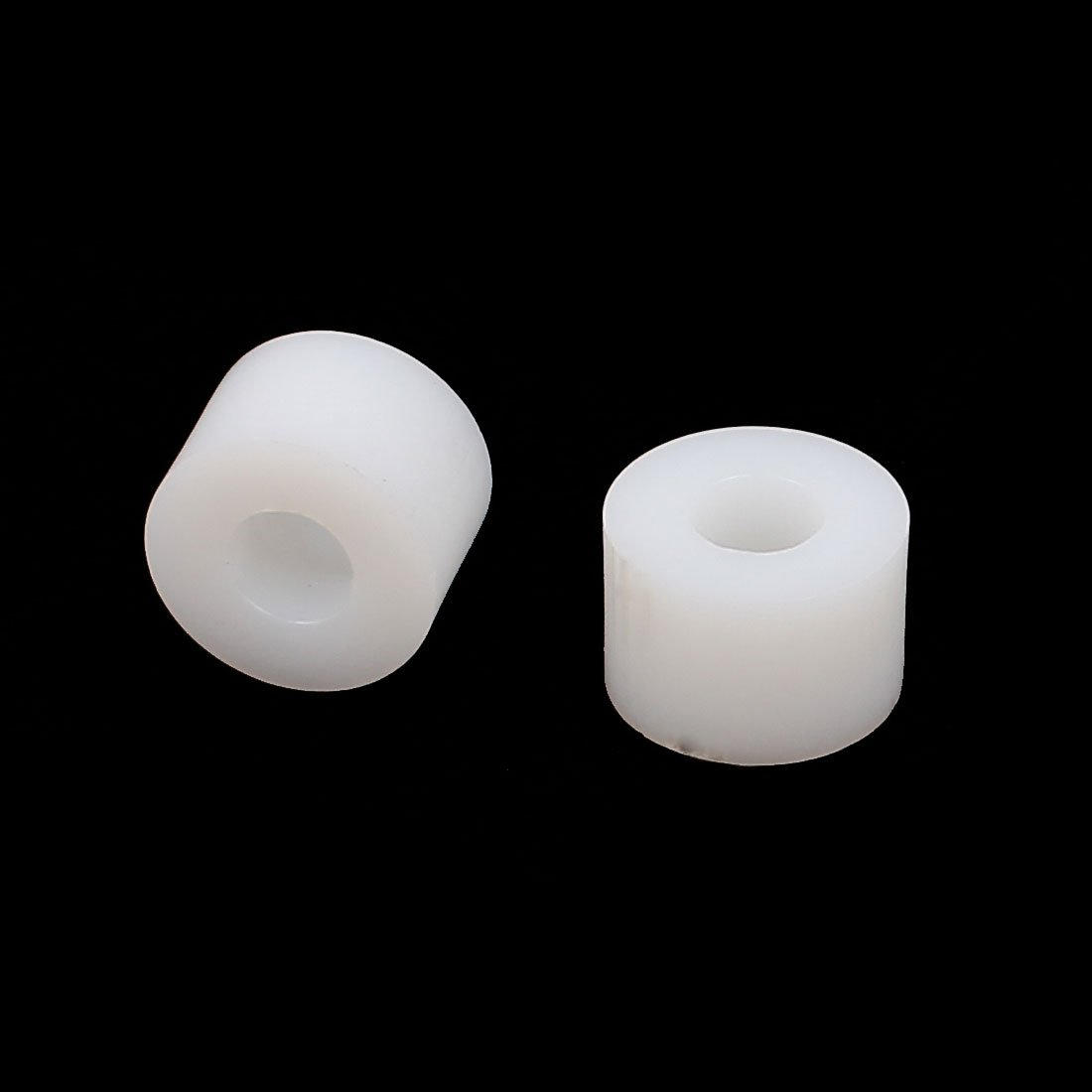uxcell Plastic Round Non-Threaded Column Standoff Support Spacer Washer 12x8mm 40pcs White