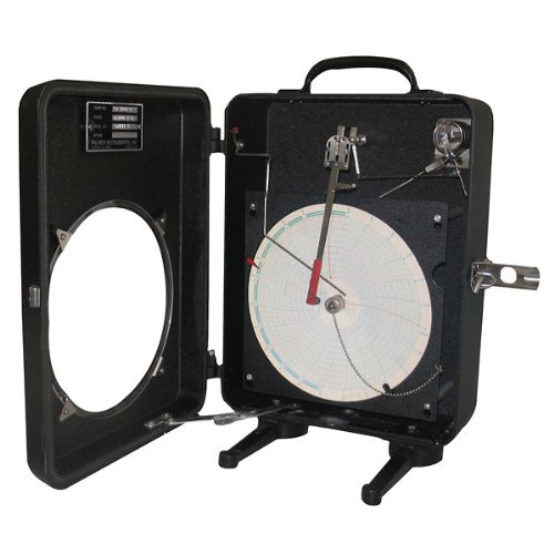 Palmer Wahl 184-1-100 8 IN Circular Chart Recorder - Pressure, 1 pen, Pipe stand/bottom (Pressure Recorder)