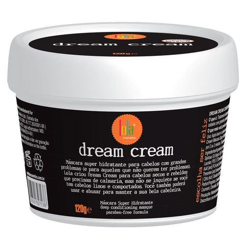 Lavar Cream (Linha Dream Cream Lola - Mascara Super Hidratante Para Cabelos Com Grandes Problemas 120 Gr - (Lola Dream Cream Collection - Super Moisturizing Mask For Problematic Hair Net 4.23 Oz))