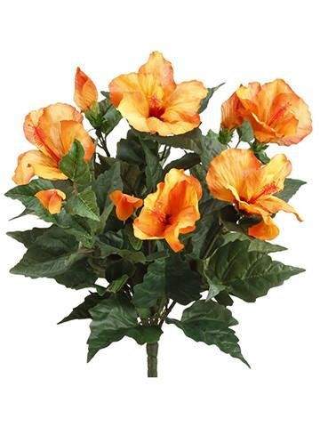 Amazon allstate floral craft hibiscus silk flower bush in allstate floral craft hibiscus silk flower bush in orange15 tall mightylinksfo