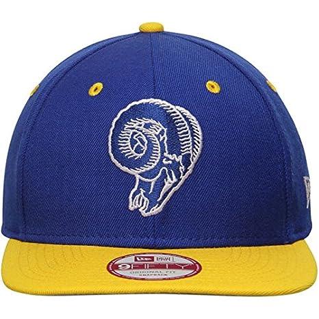 ca85b946 New Era NFL Los Angeles Rams Old School Logo 2 Tone Snapback Cap 9Fifty  NewEra