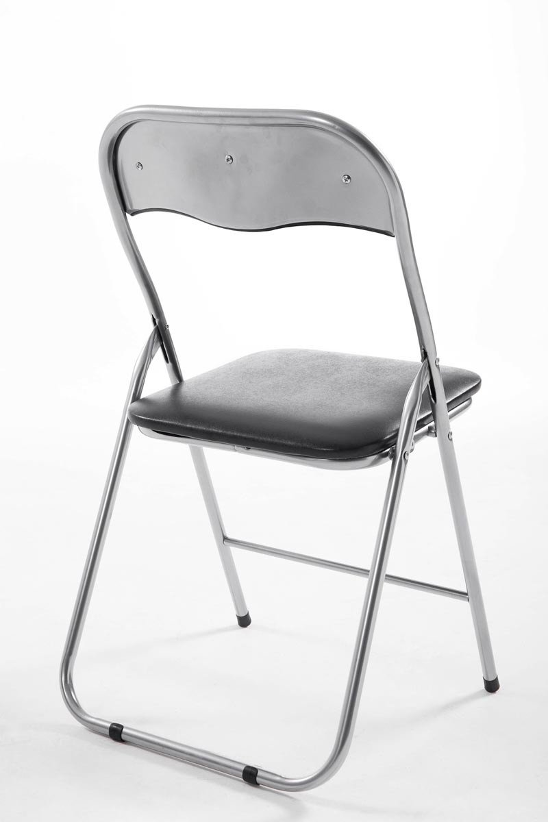 CLP Chaise de Cuisine Pliable Felix Couleur: Rouge//Noire Chaise Visiteur Repliable Pieds en M/étal Chaise Salle de Conf/érrence Confortable et Pratique