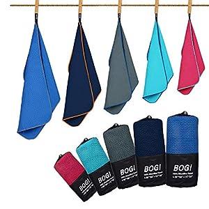 BOGI Microfiber Sport Towel-S M L XL-Quick Dry Travel Towel,Super Absorbent Beach Towel, Compact Lightweight Gym Towel…