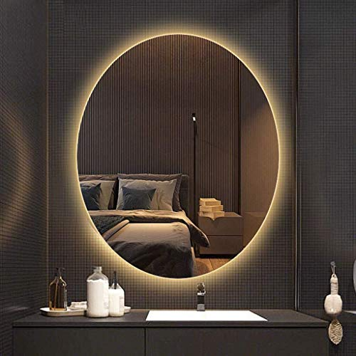 600x800mm Oval Illuminated Bathroom Mirror with Led Light Backlight Anti-Fog Wall Mounted -