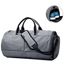 Keynew Gym Bags for Men and Medium Duffel Bag with Shoes Compartment