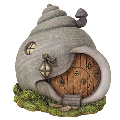 Miniature Fairy Garden of Enchantment Gastropod Snail Shell Fairy Cottage Figurine Display 6 Inches
