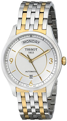 - Tissot Men's T0384302203700 T-One Silver Dial Two Tone Watch