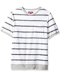 Men's Short Sleeve French Terry Crew Pullover Sweatshirt