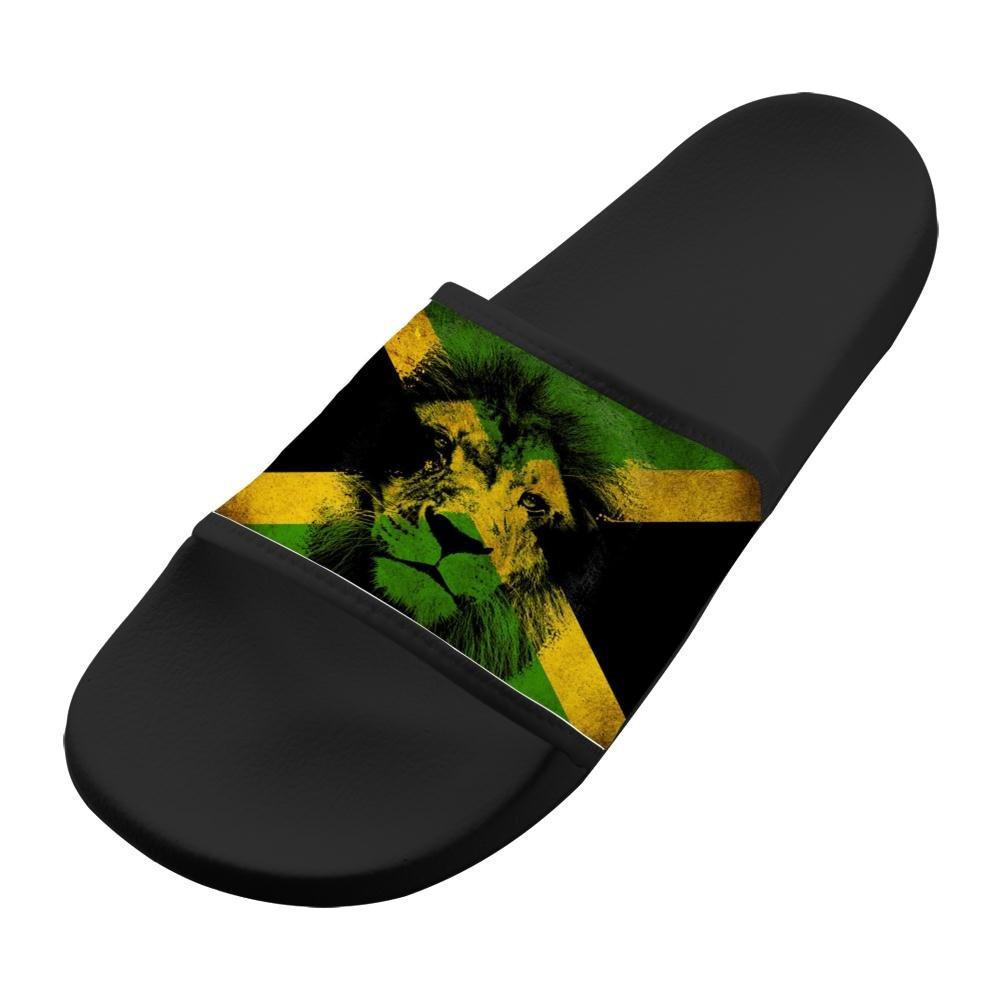Jane-LEE Shoe Comfortable Slipper Jamaican Rasta Lion decorations Designs For Men & Women 11 B(M) US