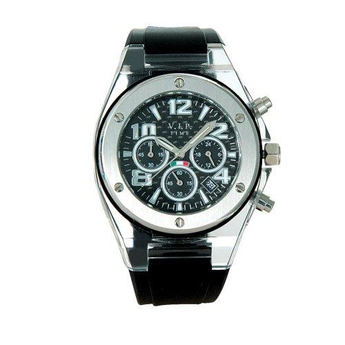 V.I.P. Time V.I.P. Time CRD-04 - Reloj de mujer de cuarzo con correa de silicona negra: Amazon.es: Relojes