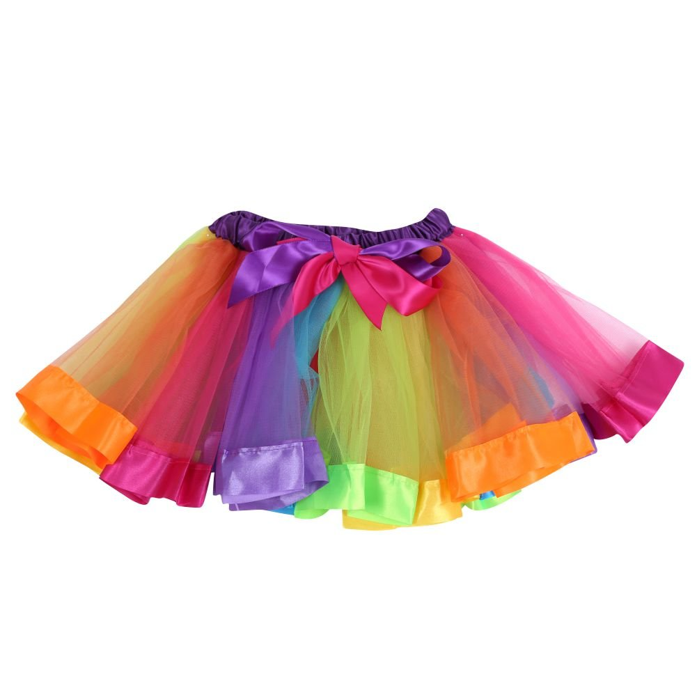 Jlong Girls Rainbow Ballet Dancewear Dress High Waist Tutu Pettiskirt 0-10Y JL-ZQP00344