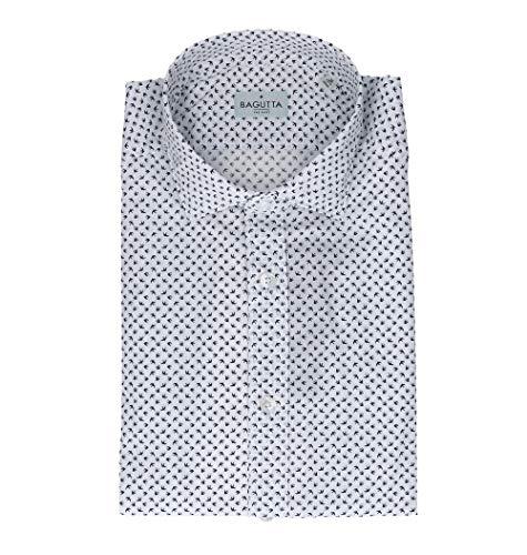 Bagutta Men's Berlinoebl09269651 White Cotton Shirt