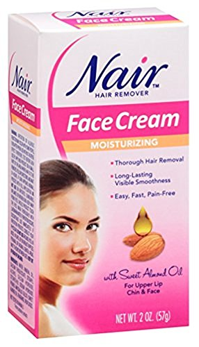 Nair Hair Remover Moisturizing Face Cream 2 oz (Pack of 8)