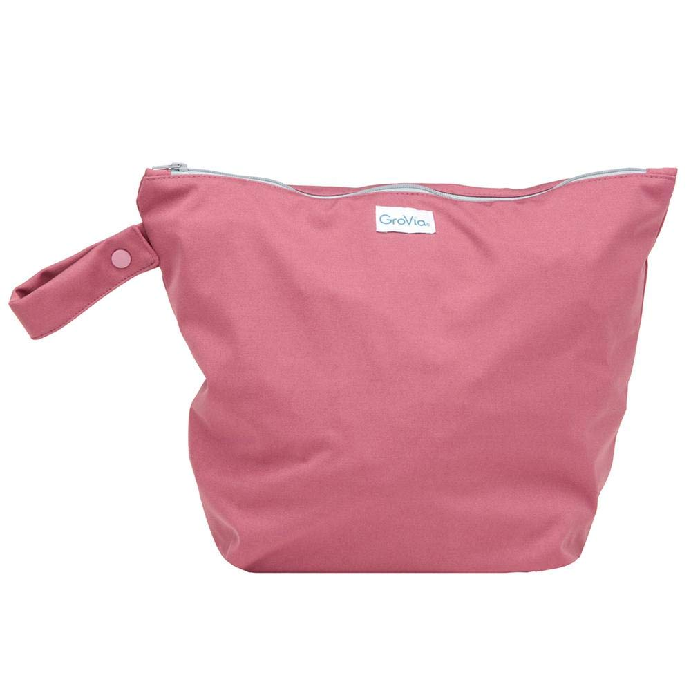 GroVia Reusable Zippered Wetbag for Baby Cloth Diapering and More (Petal) by GroVia