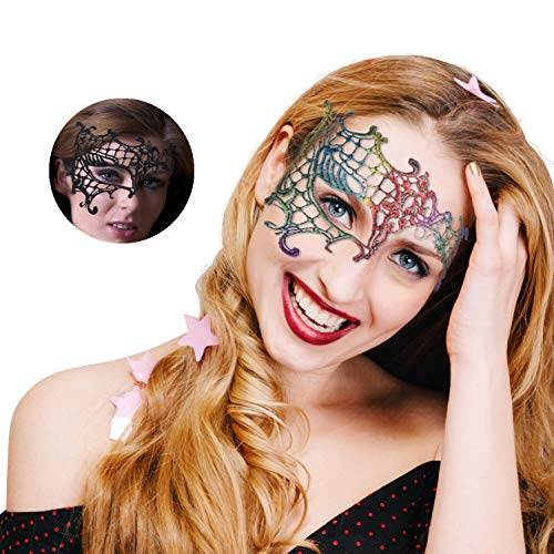Filigree Phantom Half Eye Mask for Venetian Masquerade mask Masquerade Couple for $<!--$9.99-->