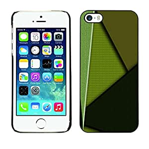 YiPhone /// Prima de resorte delgada de la cubierta del caso de Shell Armor - Green Pattern - Apple iPhone 5 / 5S