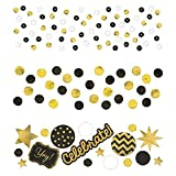 Value Pack Confetti | Black and Gold | 1.2 oz | Party Decor