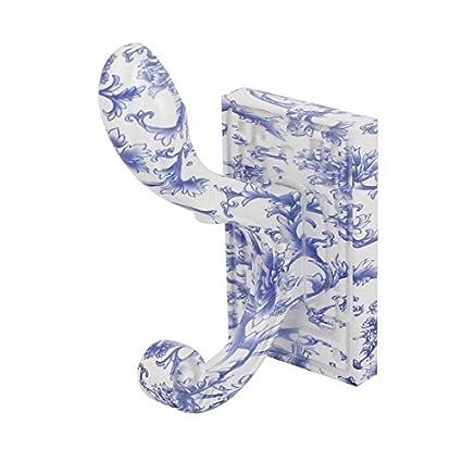 Inicio eDealMax baño de cerámica Escudo Toalla de montaje en pared que cuelga de suspensión de