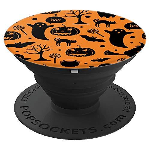 Halloween Pop Socket - Pumpkin, Ghost, Black Cat, Bat Orange - PopSockets Grip and Stand for Phones and Tablets - Halloween Pops Pumpkin