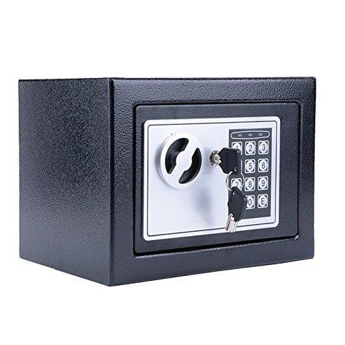 電子デジタル安全セキュリティボックスwithデジタルピンまたは優先キーホームオフィス用ジュエリーお金現金ストレージ ブラック B0759BBVMT ブラック ブラック