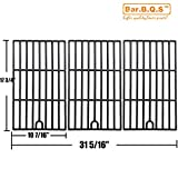 Bar.B.Q.S Porcelain Cast Iron Cooking Grid Replacement Master Forge 3218, Perfect Flame SLG2007D Gas Grill