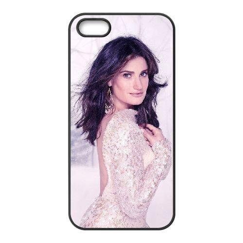 Idina Menzel 002 coque iPhone 5 5S cellulaire cas coque de téléphone cas téléphone cellulaire noir couvercle EOKXLLNCD24509