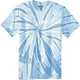Joe's USA Koloa Surf (tm) Youth Colorful Tie-Dye T-Shirt,L-Light Blue