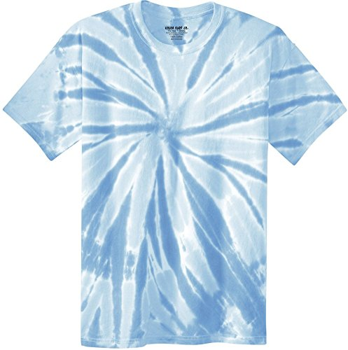 Light Blue Tie Dye - Koloa Surf Co.(tm) Colorful Tie-Dye T-Shirt,M-Light Blue