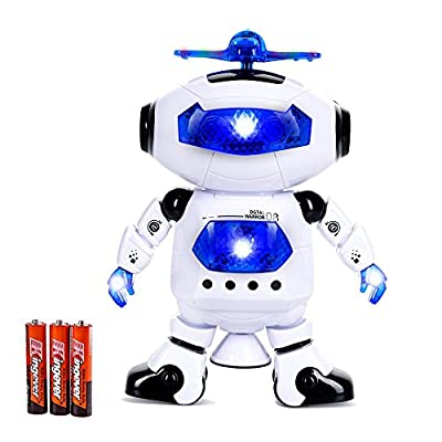 Toysery Electronic Walking Dancing Robot Toys With Music Lightening For Kids Boys Girls Toddlers, Battery Operated Included from Toysery