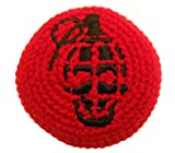 resin grenade - Grenade Hacky Sack / Footbag - Embroidered - Made in Guatemala - Comes with Tips & Game Instructions - MB44