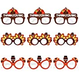 Amosfun Thanksgiving Turkey Sunglasses Creative Thanksgiving Day Eyeglasses Cosplay Party Glasses for Thanksgiving Day Birthday Party Favor Supplies 9PCS