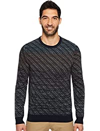 Men's Ombre Jacquard Crew Sweater