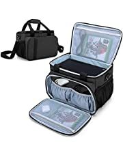 CURMIO Carrying Case Compatible with Xbox Series X Game Console and Accessories, Portable Carrying Bag with Shoulder Strap for Controllers, Cables, Headsets, Ideal for Game Player, Patented Design, Bag Only, Black