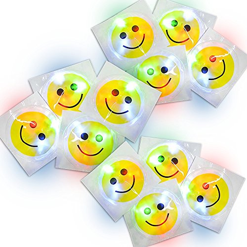 (ArtCreativity Light Up Smiley Face Sticker w/ Pre-Installed Batteries 3