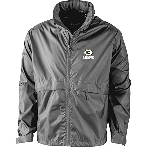 NFL Green Bay Packers Men's Sportsman Waterproof Windbreaker Jacket, Graphite, X-Large