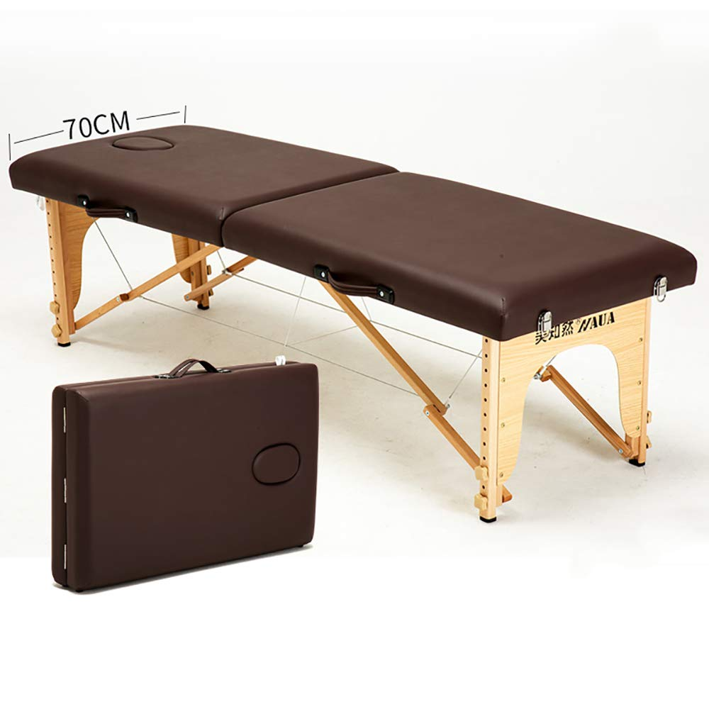 Fold Massage table, portable professional massage table - light 13 kg - light - Beauty/tattoo folding bed/various colors WXXJB-coffee-70cm by WXXJB