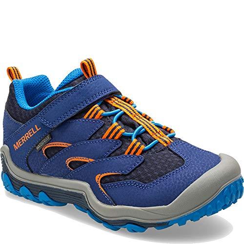 Merrell Chameleon 7 Low A/C Waterproof Boot Big Kid 3.5 Navy/Orange