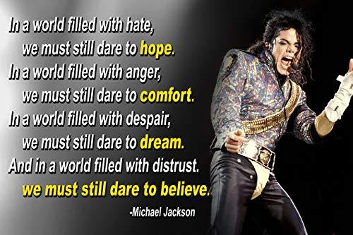 Vincit Veritas Michael Jackson Poster Quote Classroom Décor MJ King of Pop Quotes Wall Art Posters Memorabilia Decorations Birthday Gifts Mindsets Classrooms Decorations Black Art Present Music P037