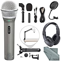 Samson Q2U Dynamic USB Microphone Podcasting Pack and...