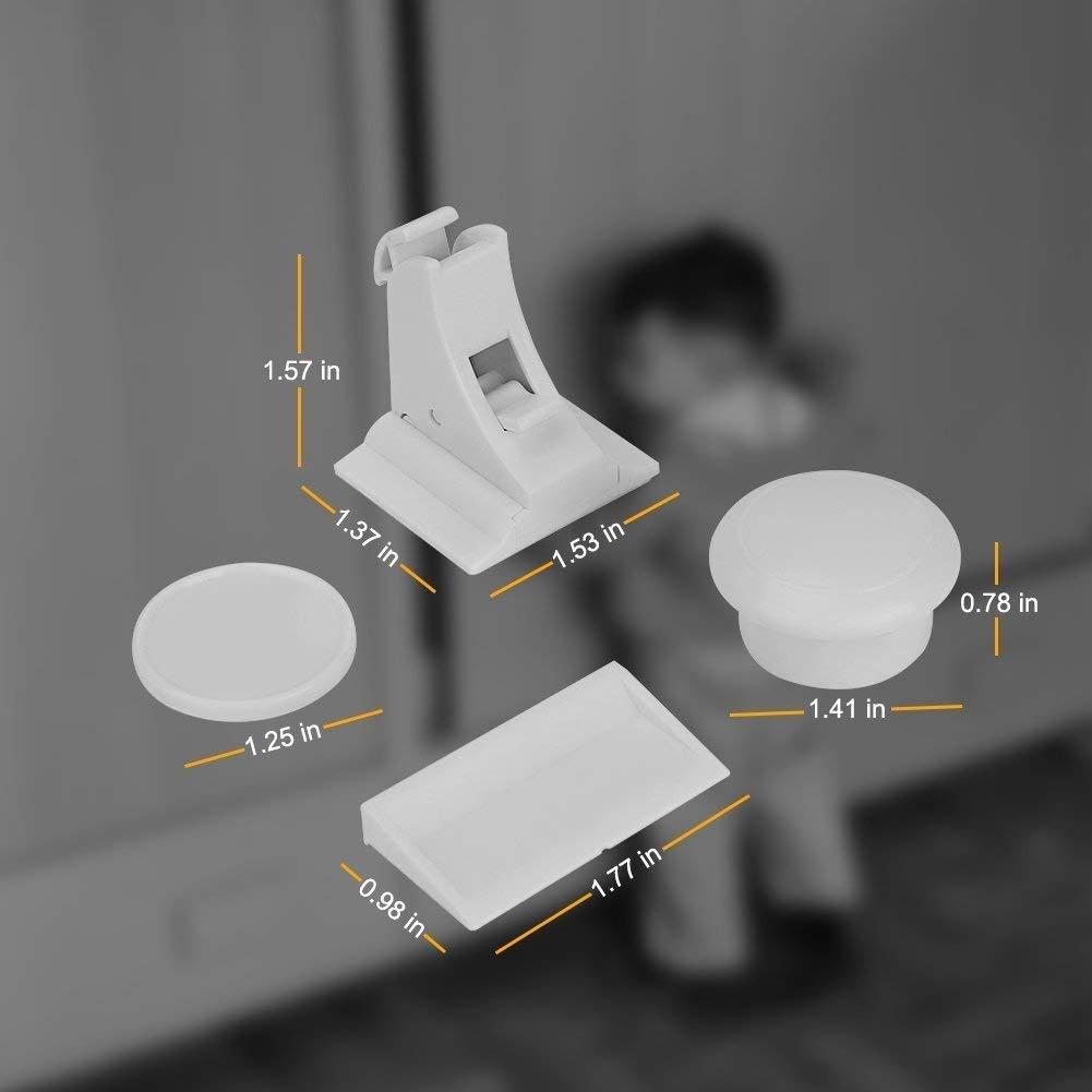 10 Verrous + 2 Cl/és Linkax Serrures de s/écurit/é pour B/éb/é Enfant Serrures//Verrous Magn/étique Bloque Placard Verrouillage de S/écurit/é pour Tiroir Cabinet