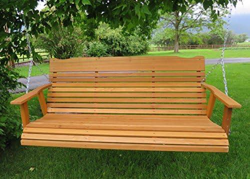 Amazon.com: 5 Cedar Porch Swing acabado teñido W/, Amish ...